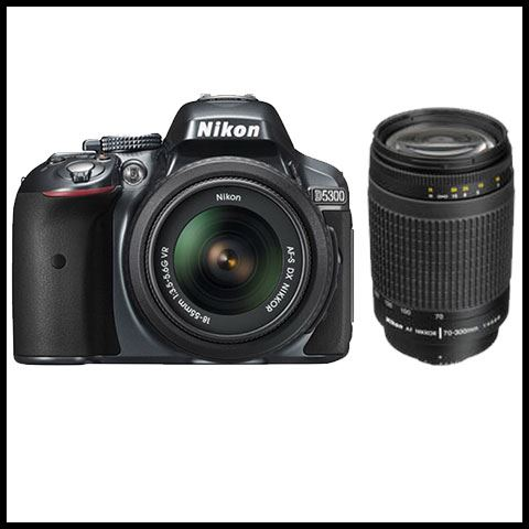 Nikon D5300 with 18-55mm VR + 70-300 G lens